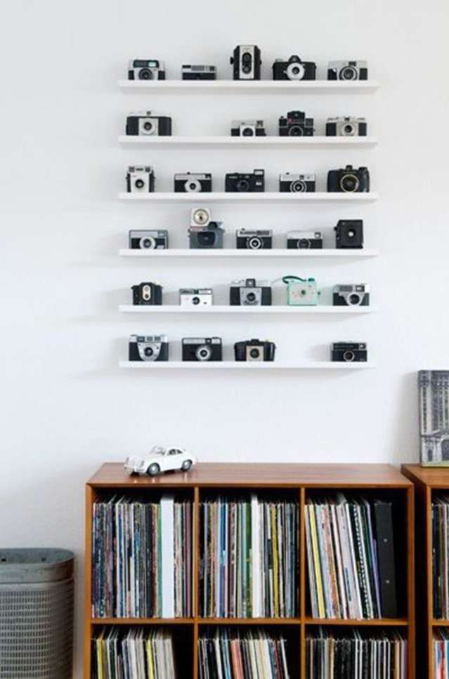 How To Turn Your Vintage Camera Collection into Wall Art