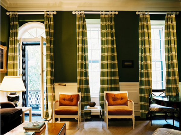 Green Drapes Curtains Living Room Living Room Green Green Rooms