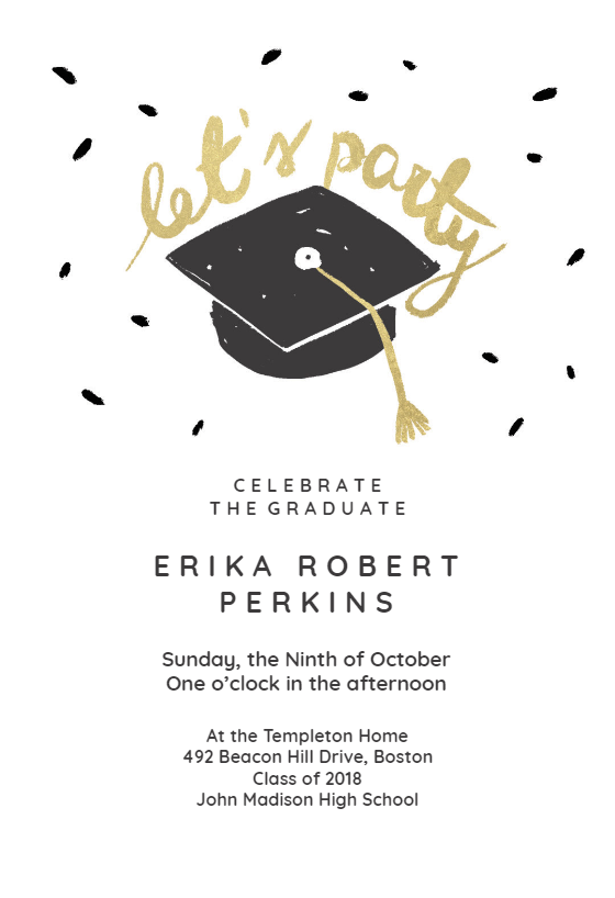 Easy Going Graduation Party Invitation Template Greetings Island Graduation Party Invitations Templates College Graduation Party Invitations Graduation Invitations Template