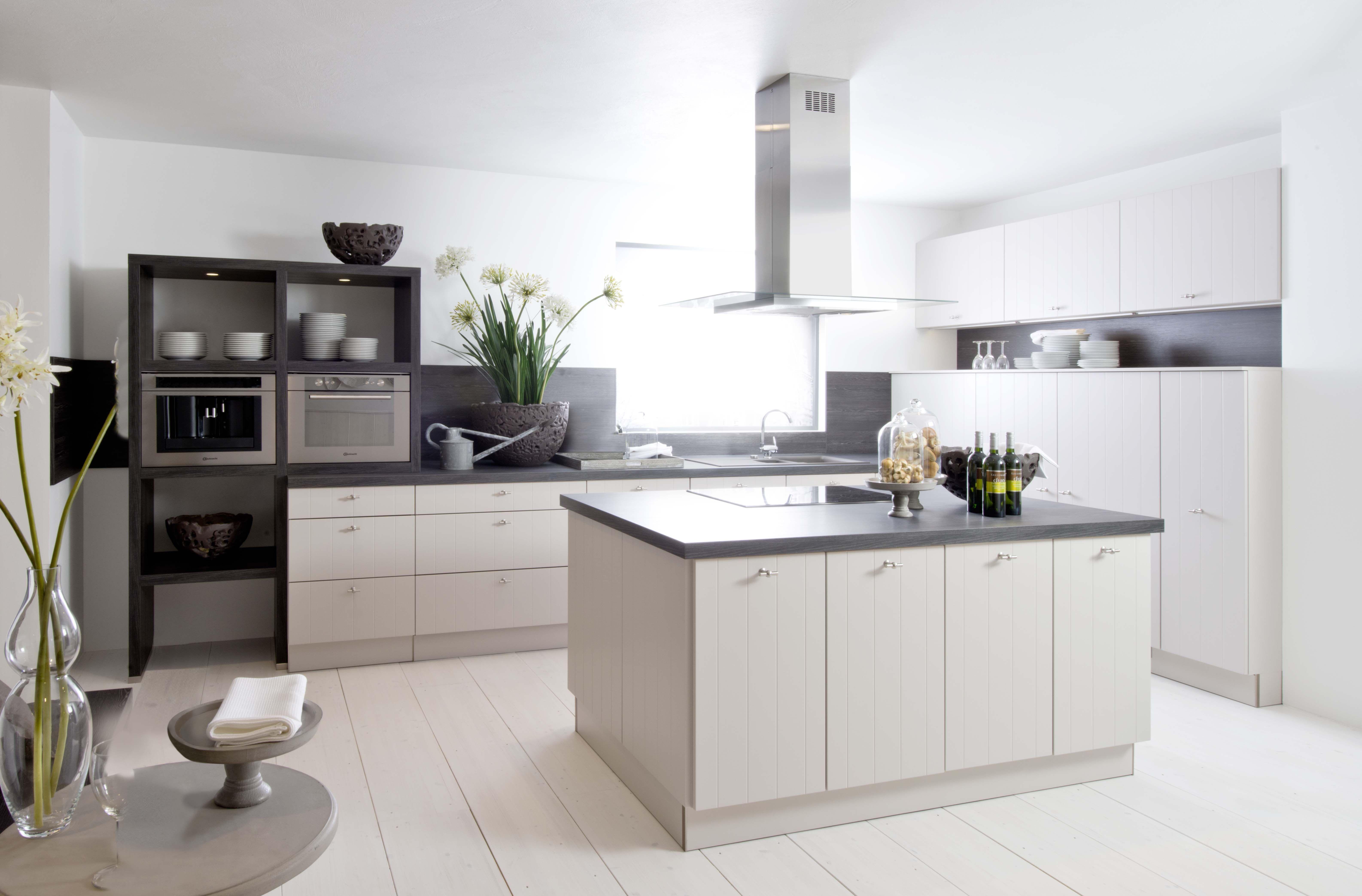 Landelijke keuken landelijk cottage wit zwart star