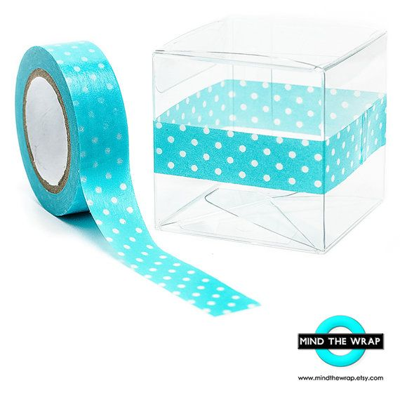Aqua Polka Dots Washi Tape 12 Yards Doodlebug Swimming Pool Swiss Dots Scrapbooking