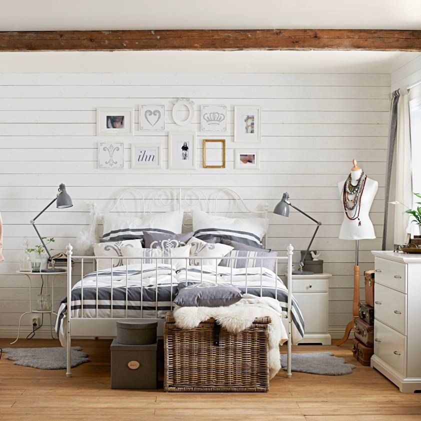 Holzwand weiß gestrichen Holzwand schlafzimmer, Wohnen