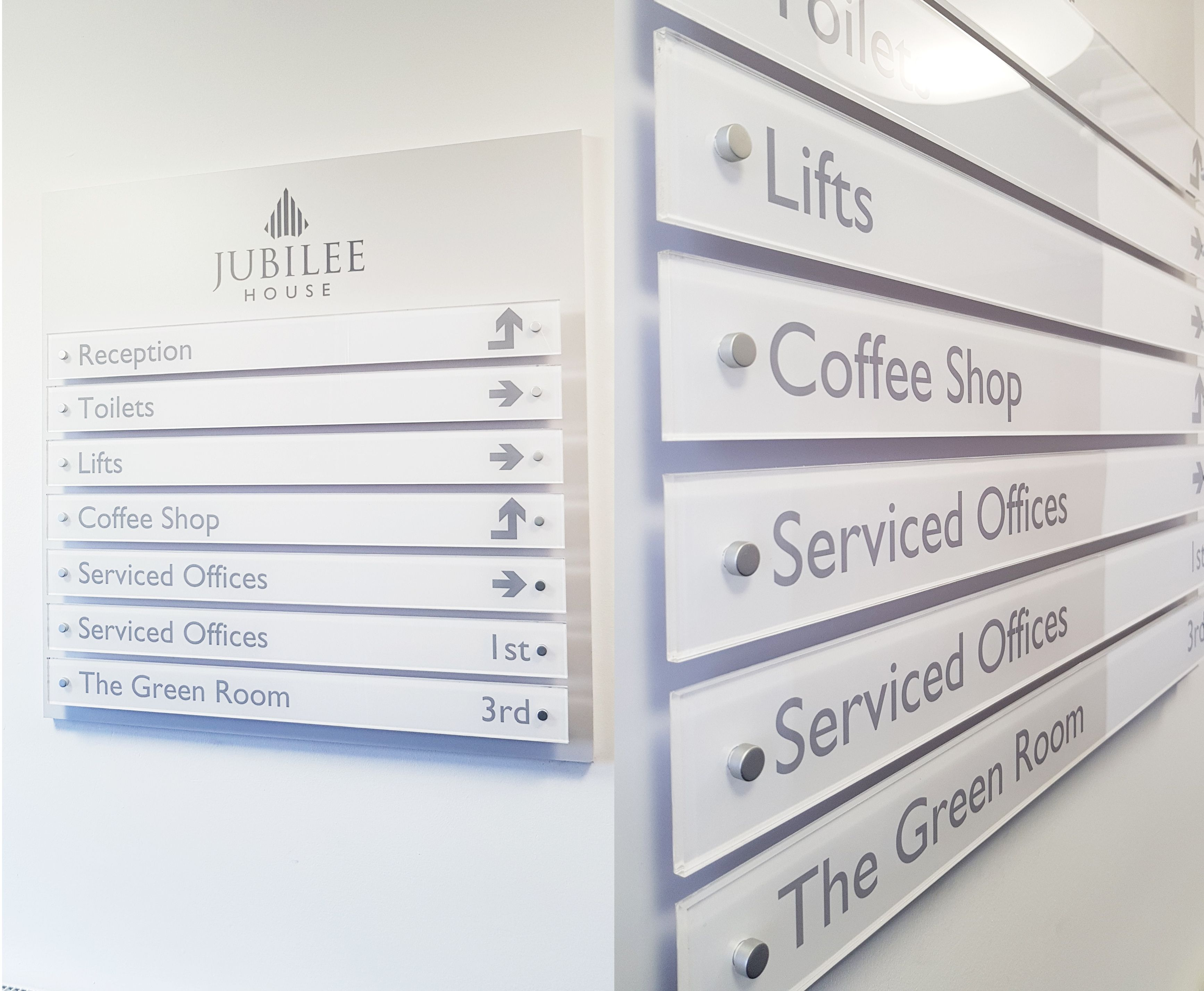 Beautiful Clean Modern Directory Signage Is Made To Measure And Can Be Designed To Your Specifications A Directory Signage Directory Signs Wayfinding Signs
