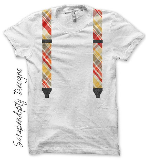 So geek chic!!  Suspenders Iron on Shirt PDF  Boys Iron on - Baby Shower Gift DIY by ScrapendipityDesigns, $2.50