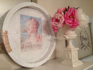 Ramshackle Romance - designs by Deborah N. Smith: shabby chic/frenchy recycled tray