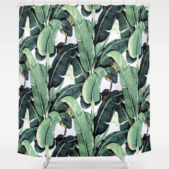 Banana Leaf Shower Curtain, Vintage