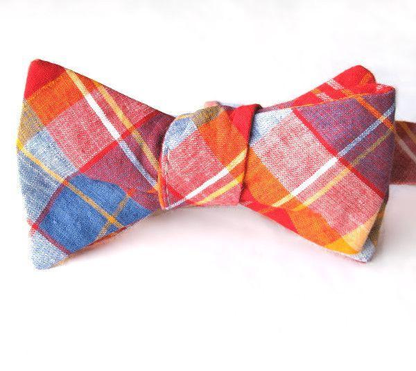 Self-Tie & Adjustable Bow Tie - Corona Heights Plaid