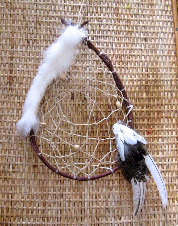 Handmade Alaskan Native Inspired Willow Dreamcatcher Snowshoe Rabbit Best Alaskan Dream Catcher