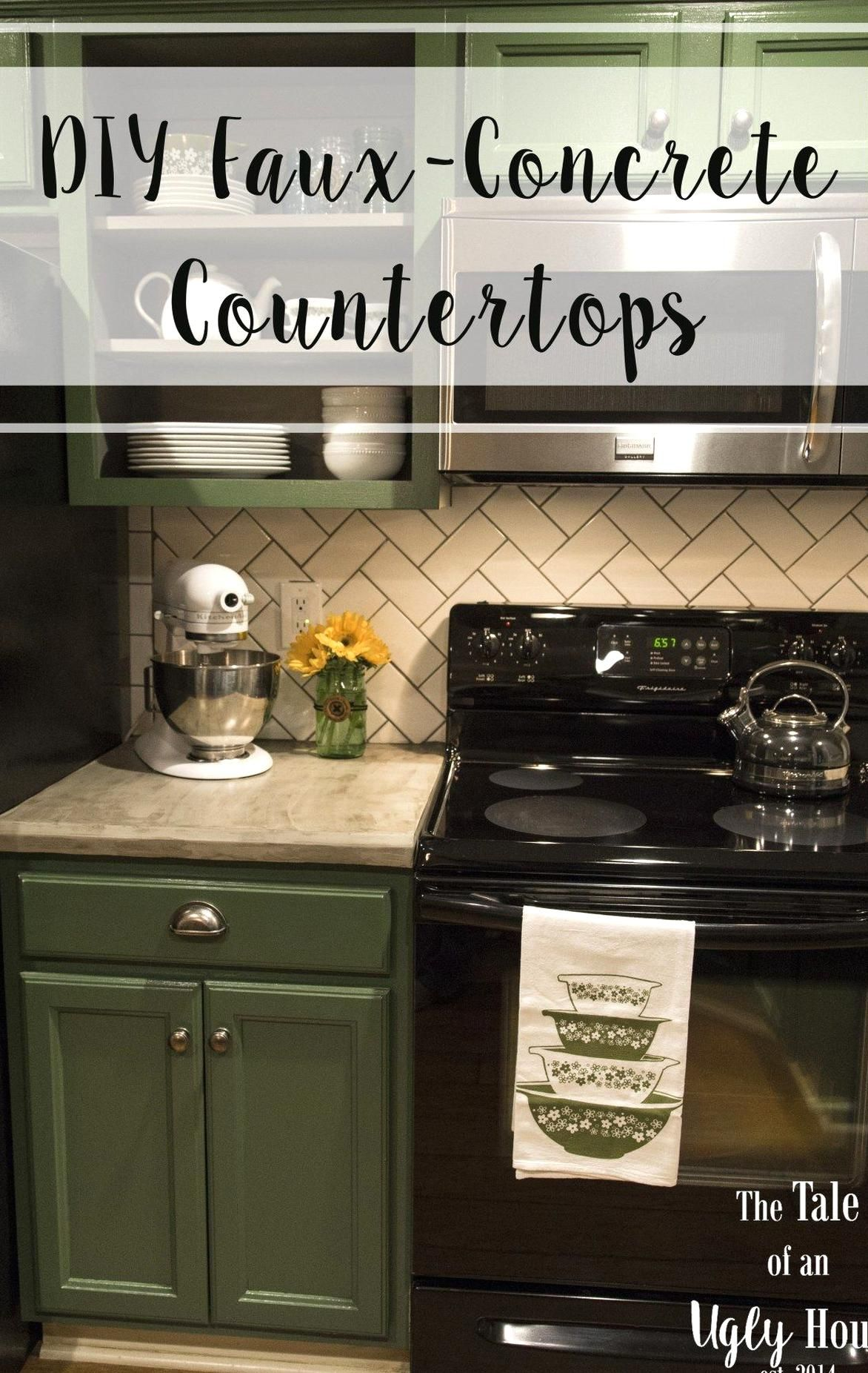 DIY Faux Concrete Countertops - Sincerely Marie Designs in ...