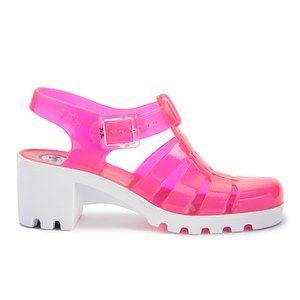 f8113f16b987 JuJu Women s Babe Heeled Jelly Sandals - Rose White
