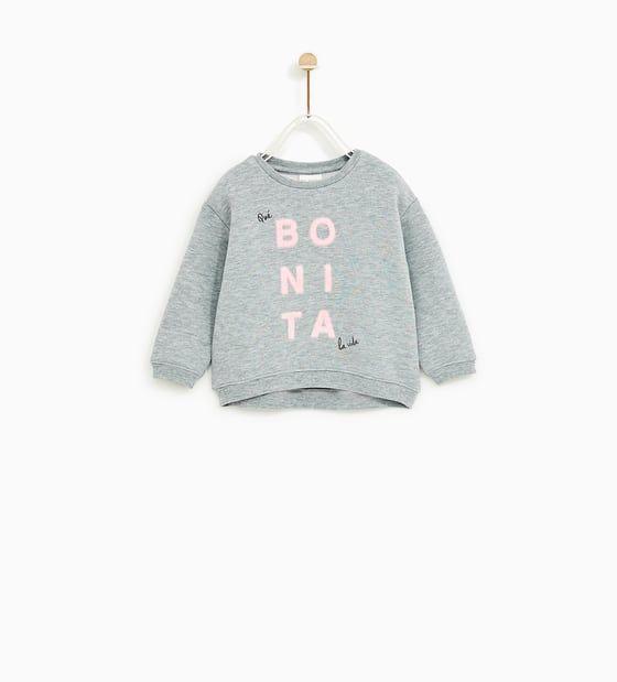 SUDADERA BONITA | Sweatshirts, Kids outfits, Zara kids