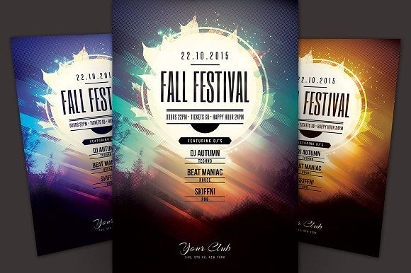 Fall Festival Flyer by styleWish on @creativemarket Best Flyer - fall flyer