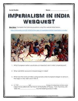 dbq 8 imperialism in india answers