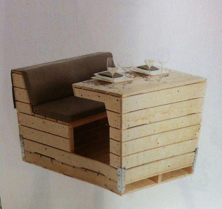 Reutilizando palets home idea mesas de madera - Mesas de palets de madera ...