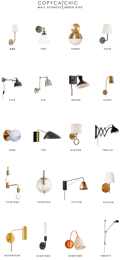 Home trends our favorite wall lamps and sconces for under 100 from copycatchic luxe living