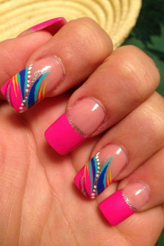 Acrylic nails. One feature nail.