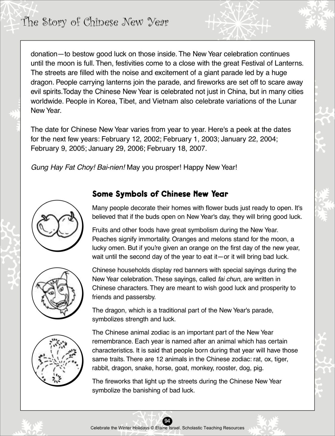 The Story of Chinese New Year - Scholastic Printables | scouts ...