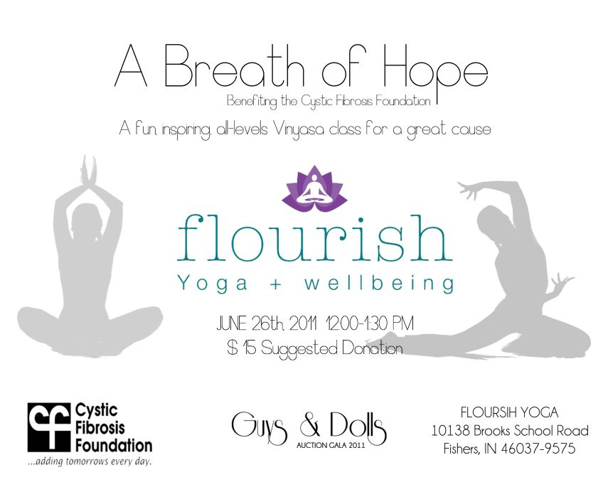 Flourish Yoga Flyer | Flyer Yoga | Pinterest