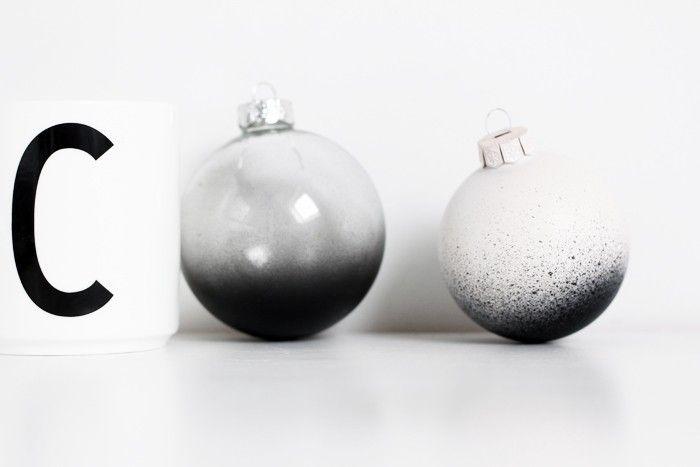 Black  White Christmas Style Series Diy ombre, Christmas ornament - christmas decors