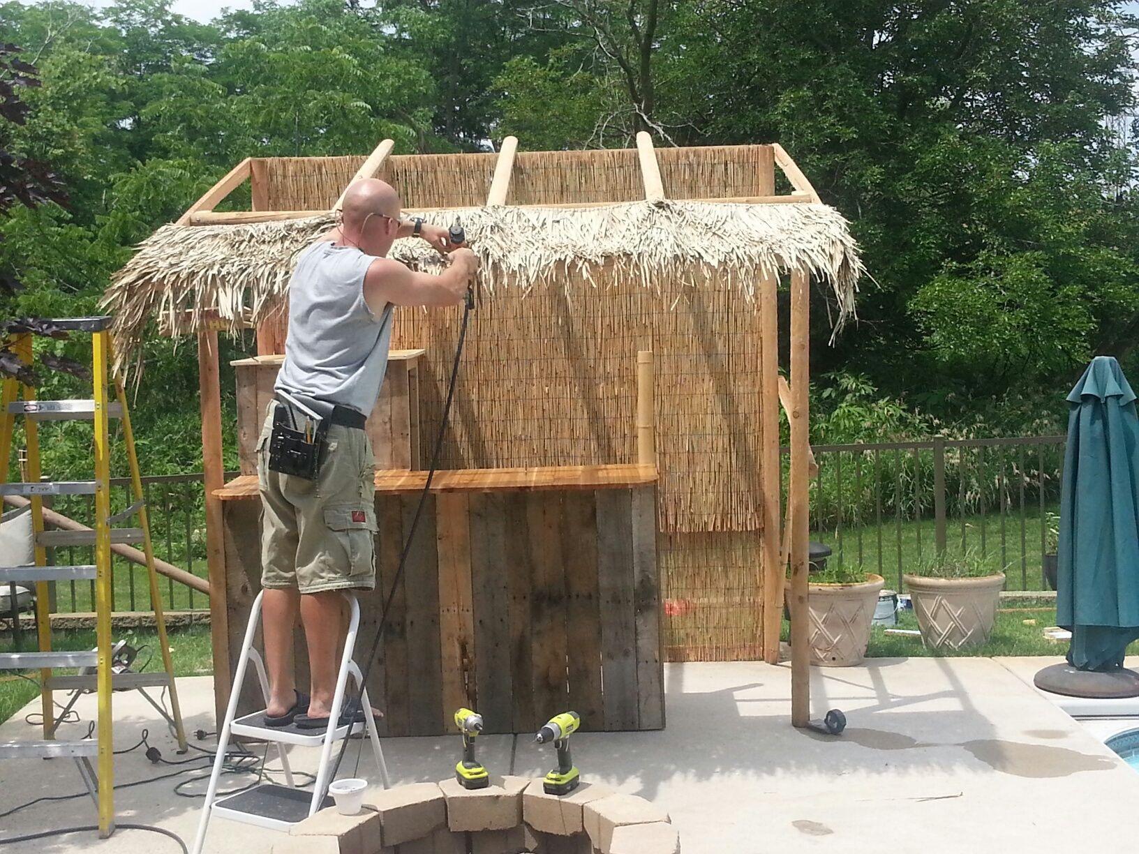 Make your own outdoor tiki bar More | Outdoor tiki bar ... on Tiki Bar Designs For Backyard id=17429