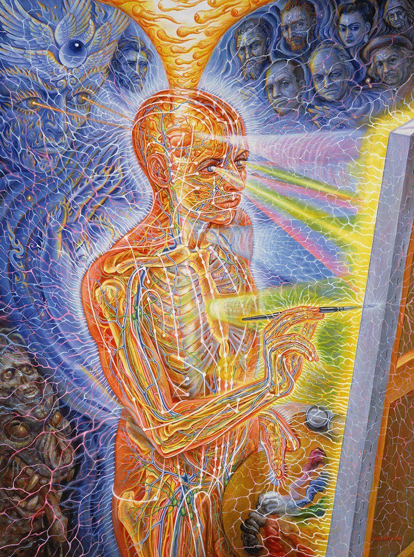 Painting By Alex Grey Alex Gray Art Alex Grey Paintings