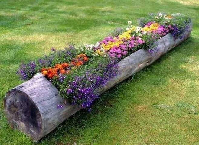 Flower log