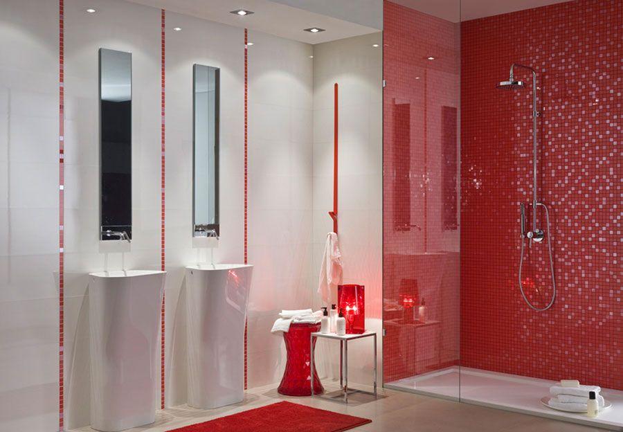 bagni con piastrelle a mosaico n bagno