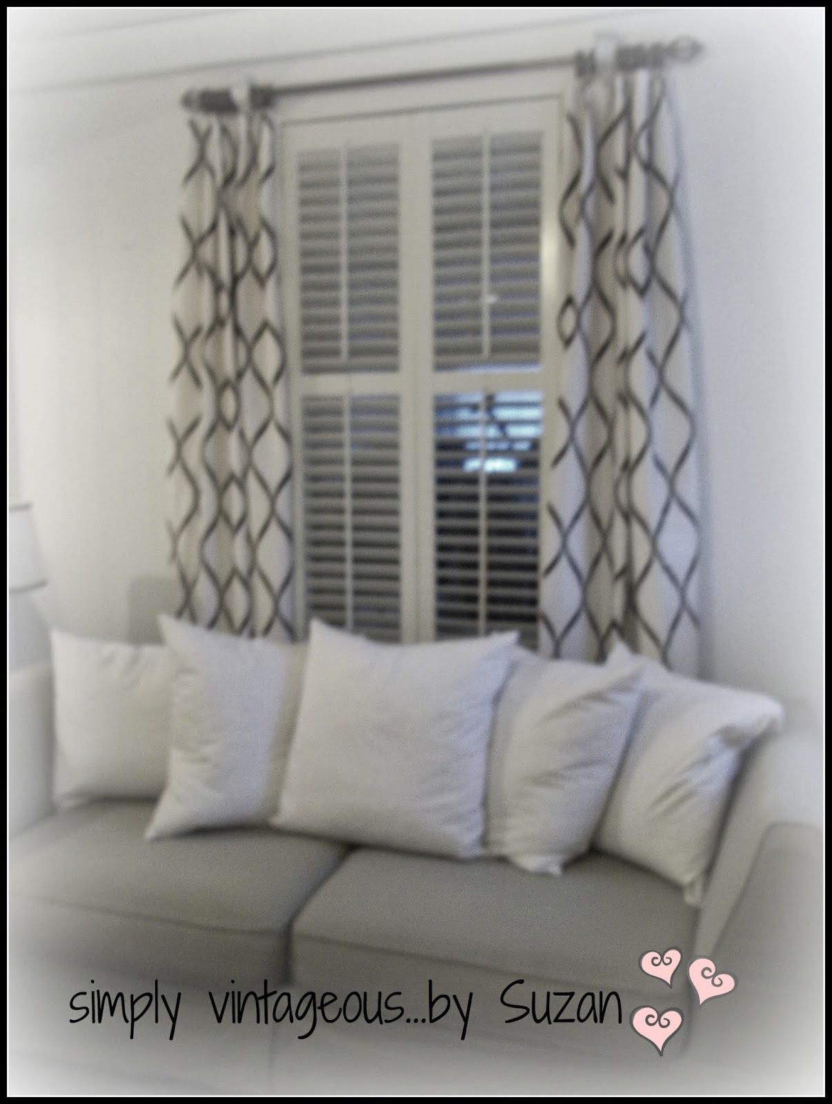 Shuttered Windows With Drapes Shutterscustom Furniturevintage