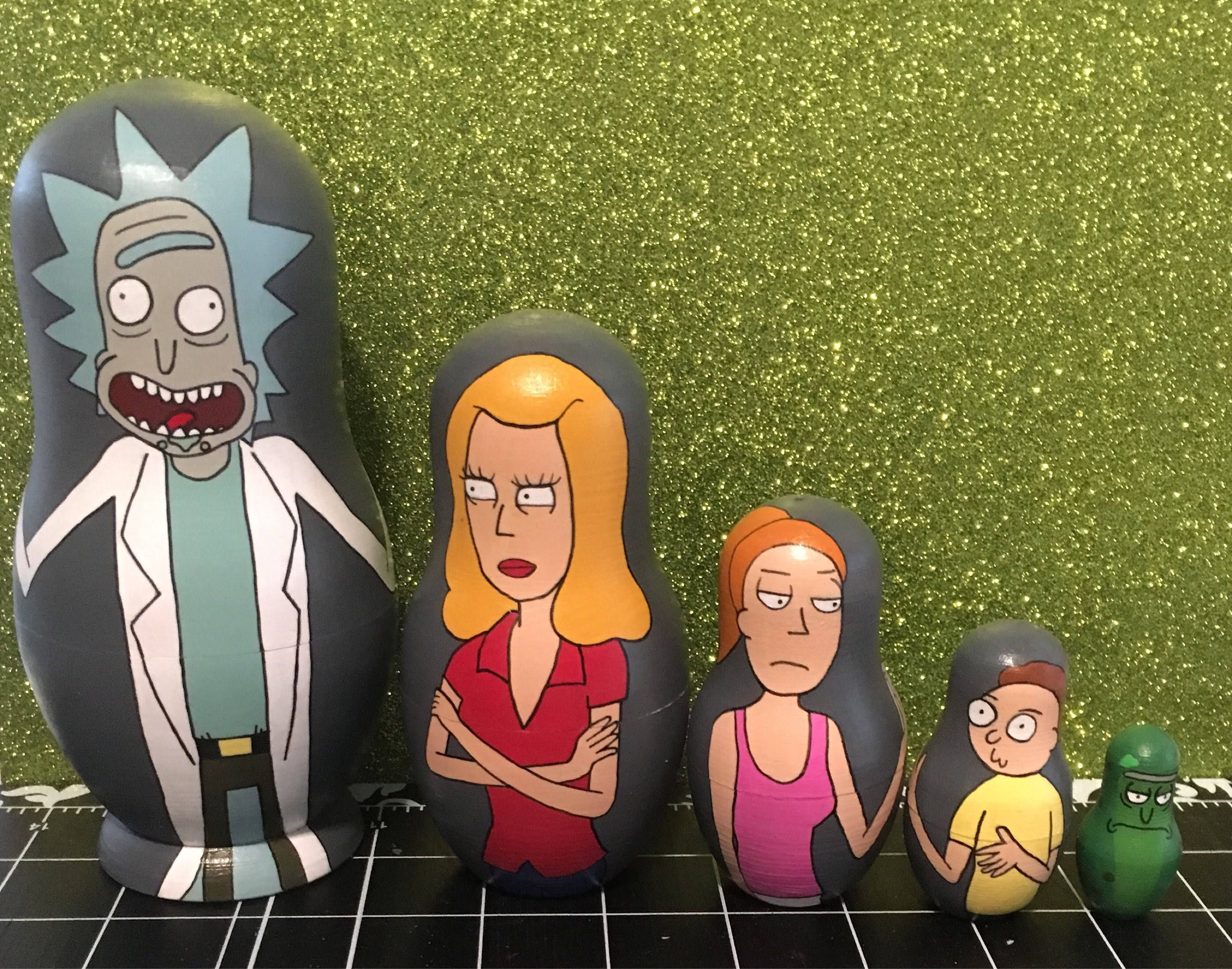 Rick and Morty Nesting Doll set | matroesjka | Pinterest | Dolls