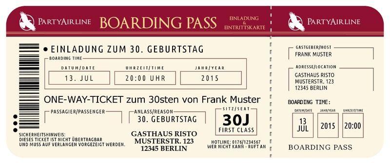 Elegant Einladung+30.+Geburtstag,+Einladungskarten+zum+30.+von