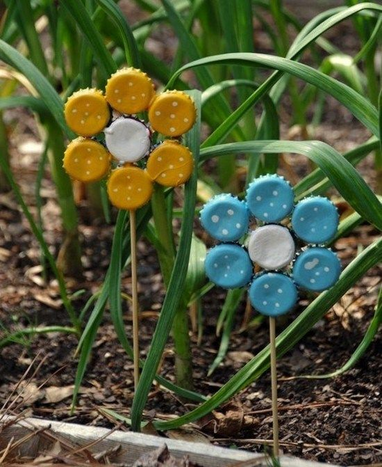 Making unusual DIY garden decoration yourself – 40+ upcycling garden ideas