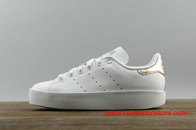 Adidas Stan Smith BD Platform S75316 White Gold Increase Shoes For Women