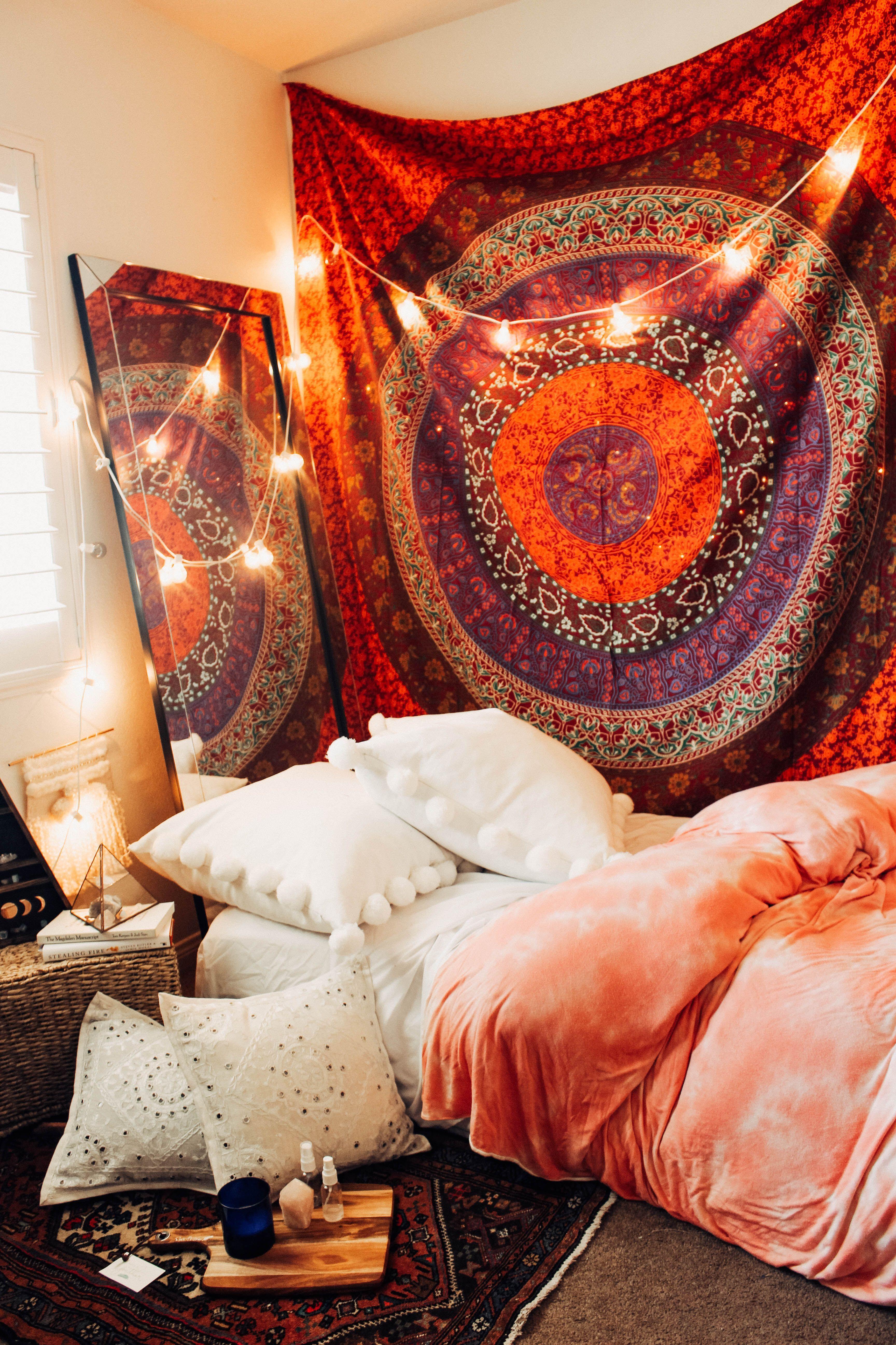 Tapestry On Ceiling Bedroom Design Rustic Bedroom Design Tapestry Bedroom