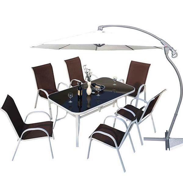 de Salon chaisesune table Taupe Cordoba jardin 6 Pack 4A3qRjc5LS