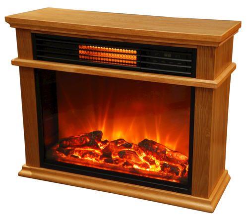 299 Life Smart 3 Quartz Element Freestanding Infrared Fireplace