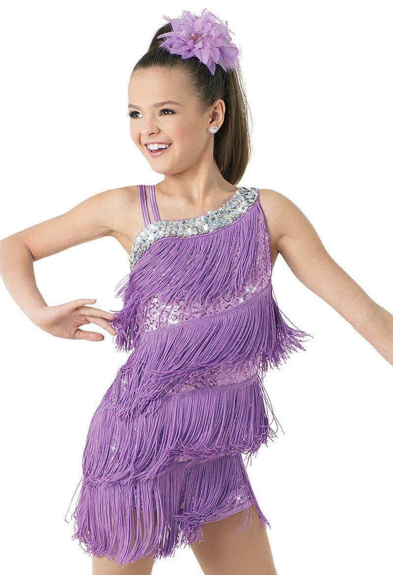 Weissman™ | Sequin & Fringe Asymmetrical Biketard | Dance Costumes ...
