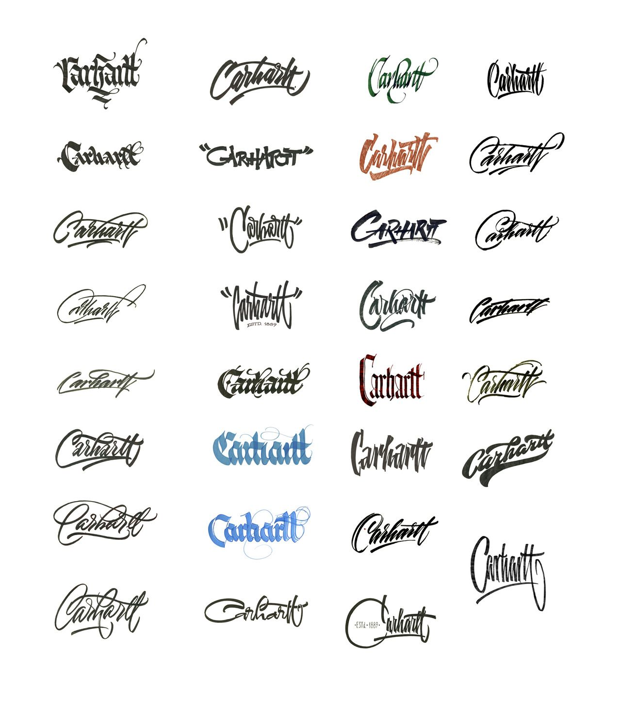 Carhartt Lettering Treatments Lettering Tattoo Lettering Fonts Name Tattoo Designs Check out our name tattoo font selection for the very best in unique or custom, handmade pieces from our shops. pinterest