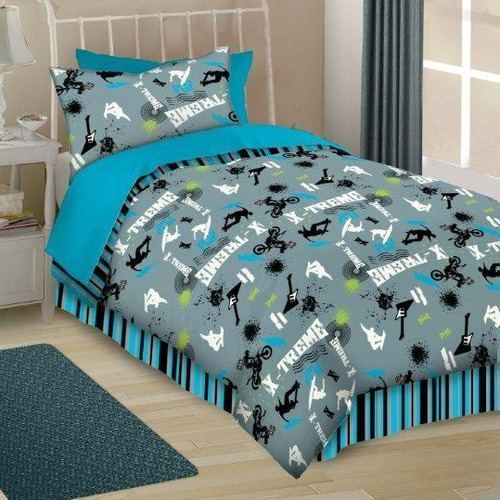 Twin Comforter Sets For Boys Skate Music Guitars Twin Comforter - Boys sports bedding sets twin