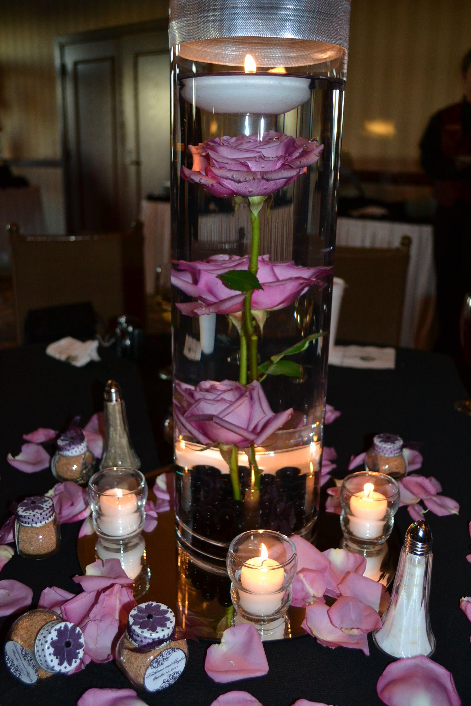 Wedding decoration ideas purple  more centerpieces  centerpieces  Pinterest  Centerpieces