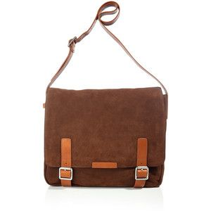 MARC BY MARC JACOBS Chestnut Simple Suede Messenger Bag | Outfits ...