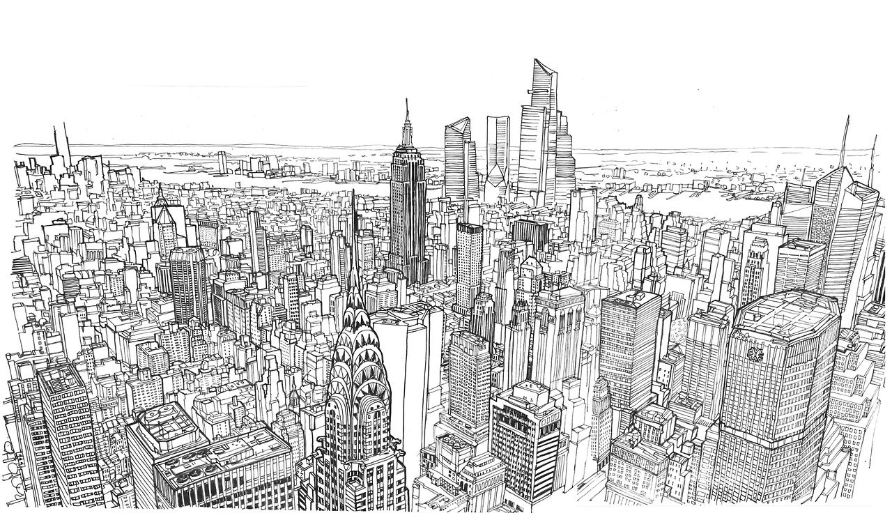 Line Drawing Nyc : Patrick vale nyc in lines street drawing pinterest