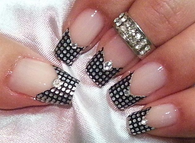 french tip by sirenmarina - Nail Art Gallery nailartgallery.nailsmag.com by Nails Magazine www.nailsmag.com #nailart