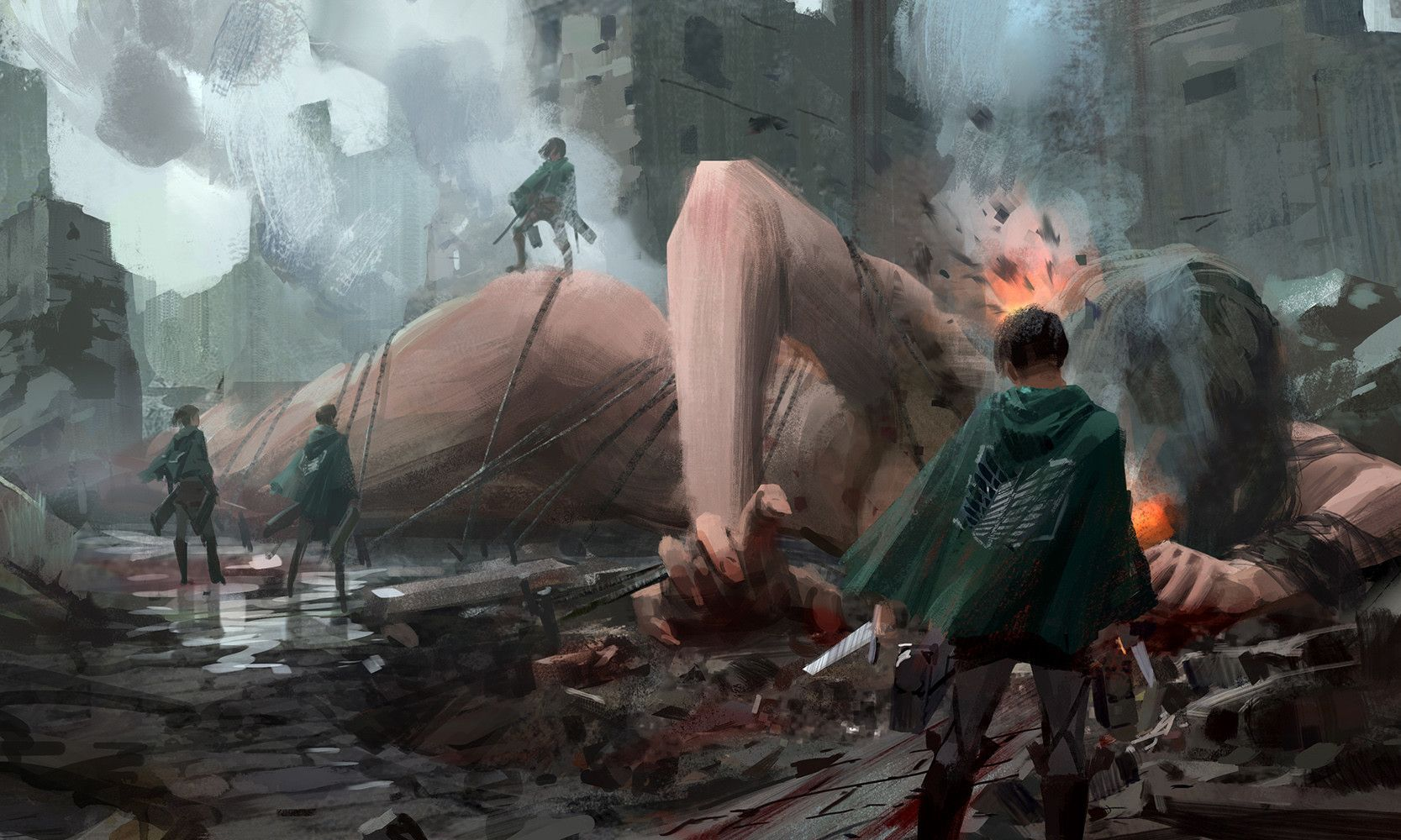 Artstation Fan Art Of Attack On Titan Way Way Com Imagens