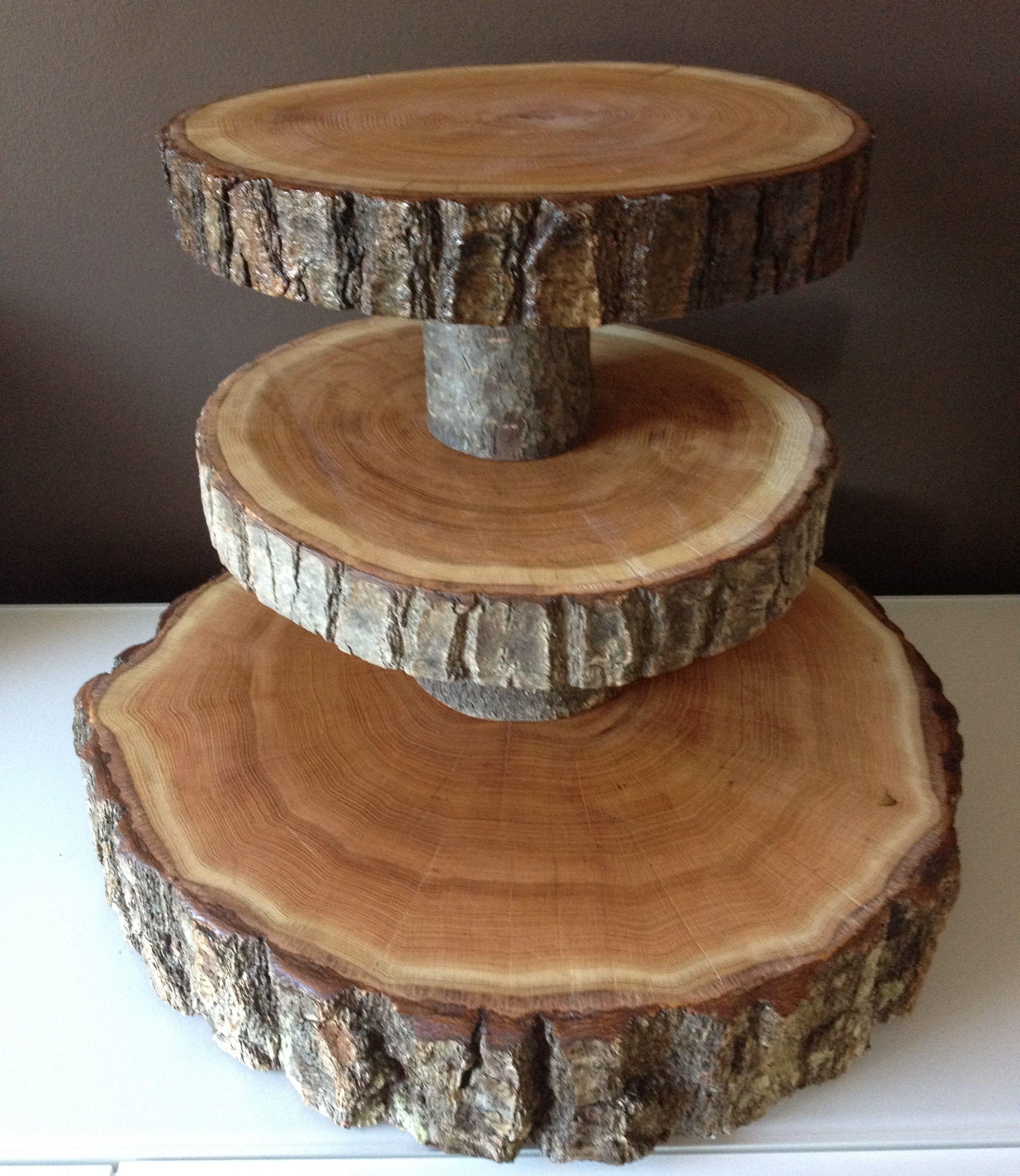 Wood Slice Wedding Cake Stands Wood Rounds Stump Cake Stand Wood Cupcake Stand Wood Cake Stand Wood Wedding Cakes