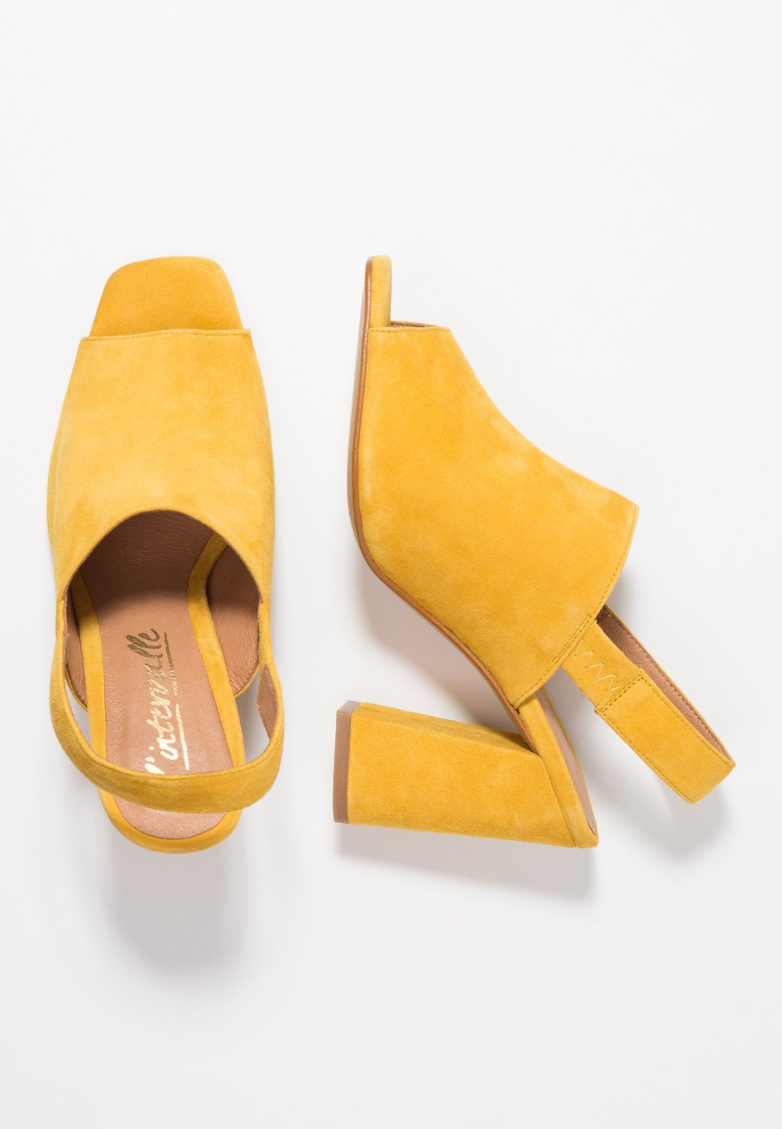 L'INTERVALLE TINASI - High heeled sandals - yellow 8ie8YfC