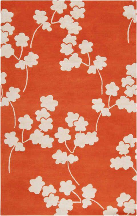 Surya Zuna Zun1066 Area Rug Floral Pattern On Bright