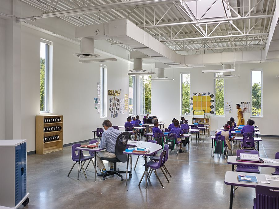 Sustainable Design. LEED Platinum. School In Washington, DC. Rocketship  Rise Academy Is A 58,000 Sft Pre K, Kinder And Elementary School Building  To Host ...