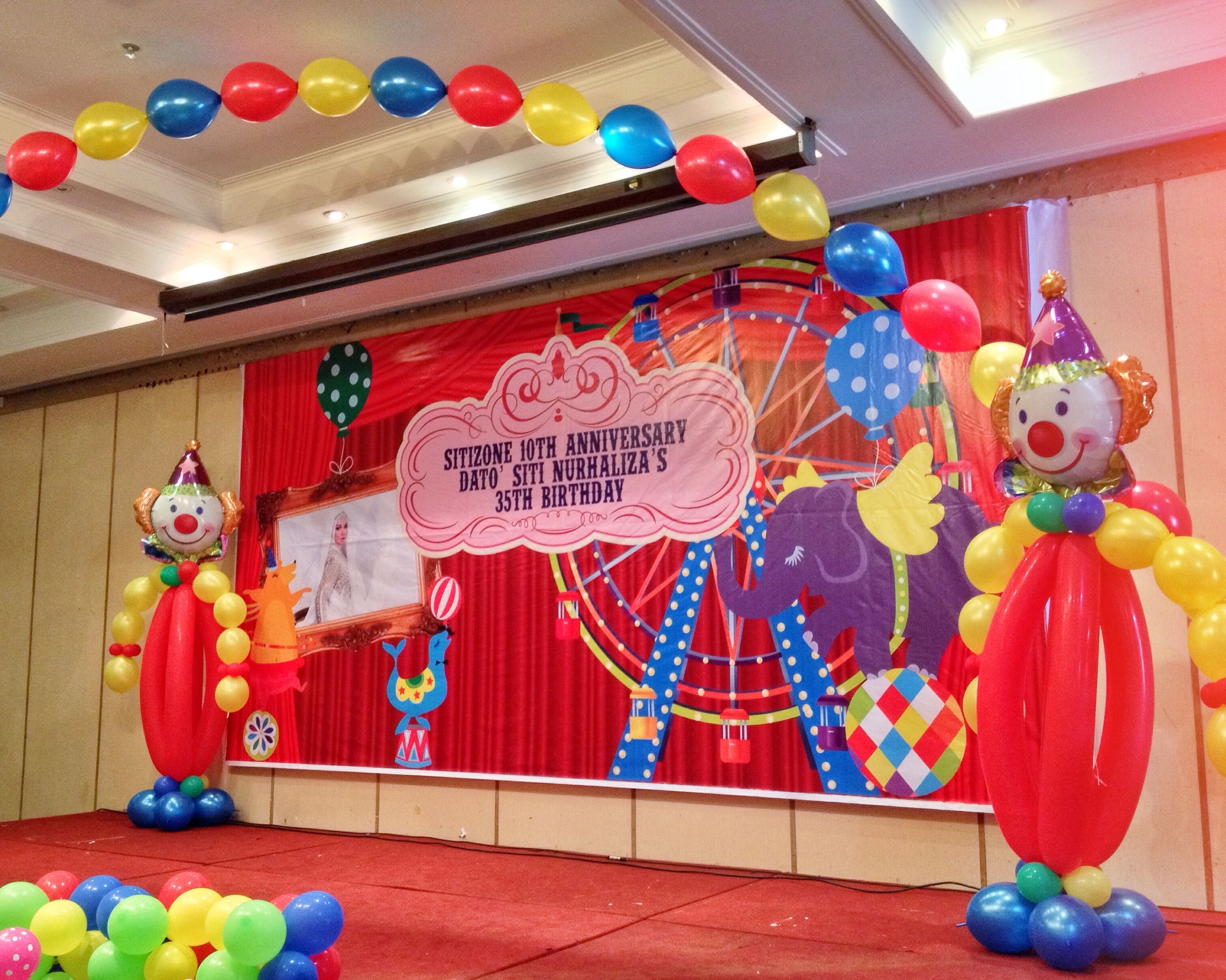 Carnival themed party welcome arch balloons circus balloons pinterest carnival themed - Carnival theme decoration ideas ...