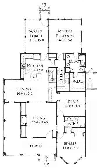 Allison Ramsey Architects Floorplan For The Colleton