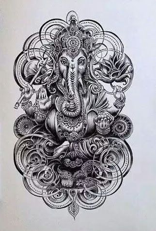 50 beautiful ganesha tattoos designs and ideas with meaning pinterest ganesha. Black Bedroom Furniture Sets. Home Design Ideas